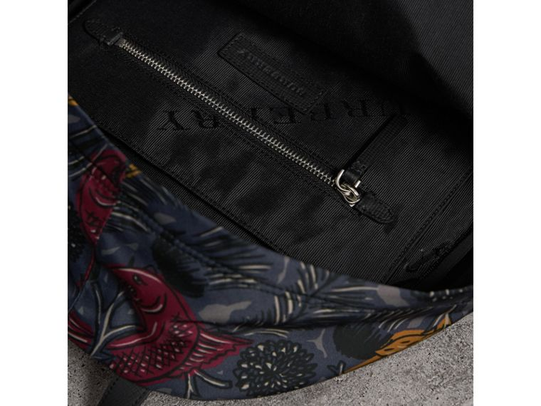 Leather Trim Beasts Print Backpack - Men | Burberry - cell image 4