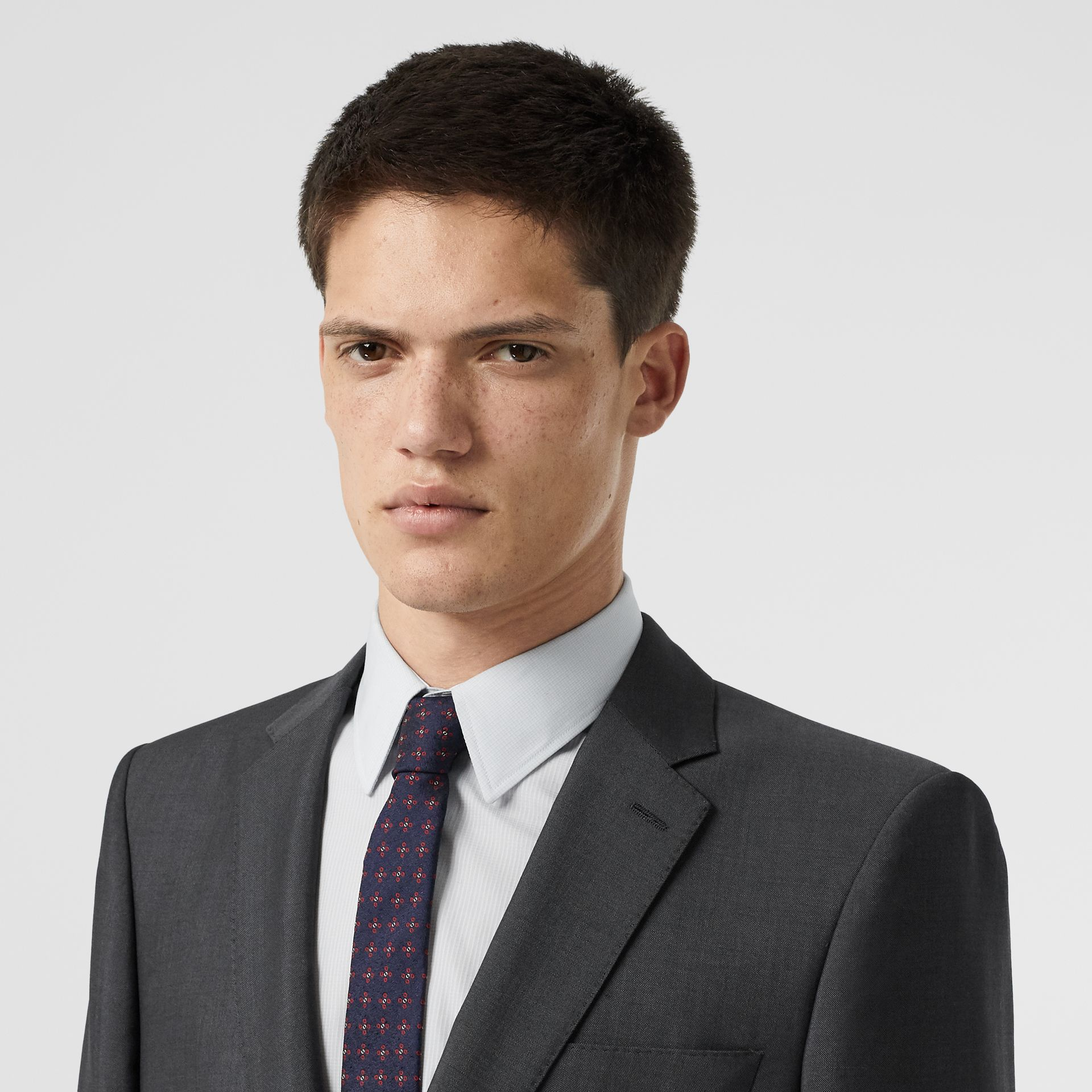 Classic Fit Wool Mohair Suit in Dark Grey - Men | Burberry Canada - gallery image 1