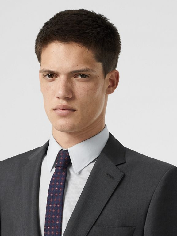 Classic Fit Wool Mohair Suit in Dark Grey - Men | Burberry - cell image 1