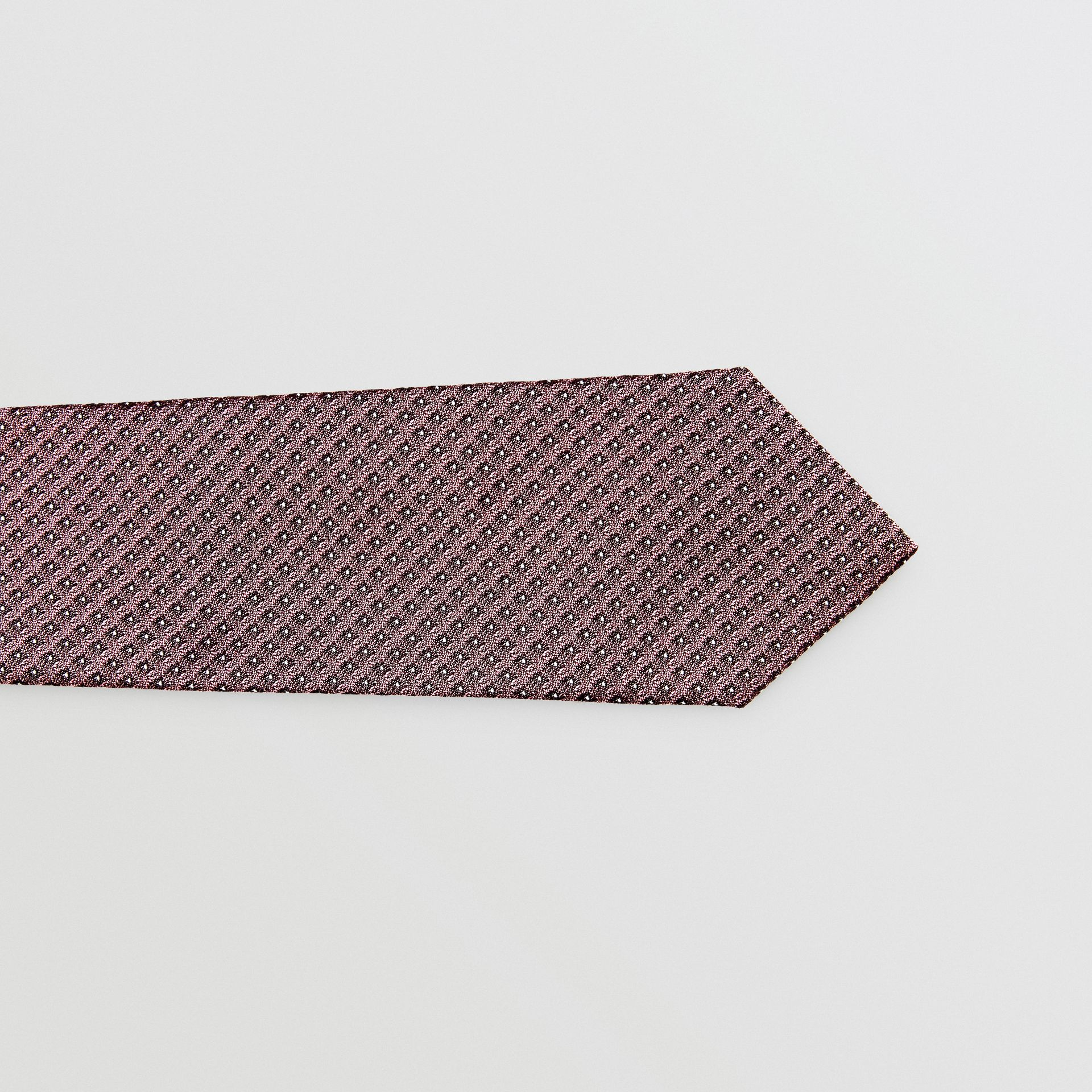 Classic Cut Micro Dot Silk Jacquard Tie in Garnet Pink - Men | Burberry United Kingdom - gallery image 1
