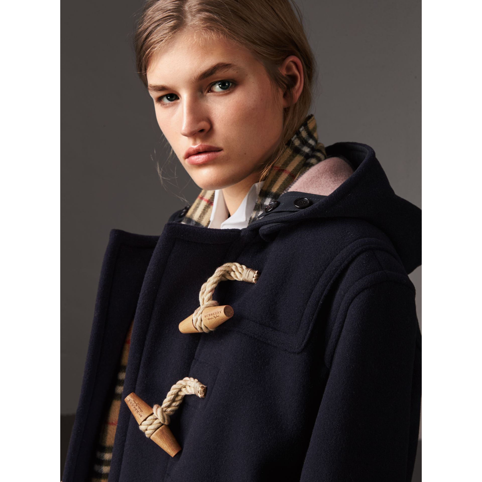 The Greenwich Duffle Coat in Navy - Women | Burberry United States - gallery image 1