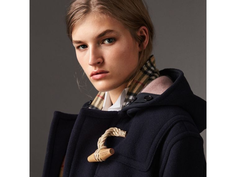 The Greenwich Duffle Coat in Navy - Women | Burberry Hong Kong - cell image 1