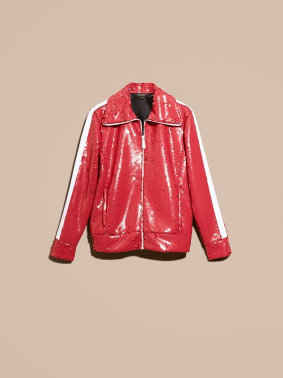 Cranberry red Sequin Track Jacket - cell image 3