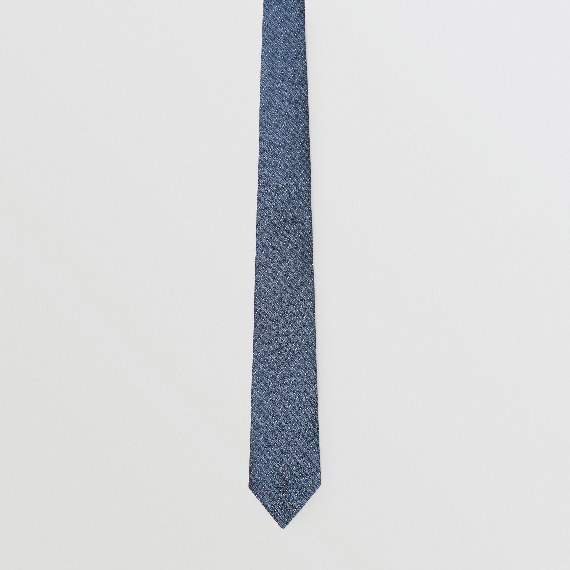 Classic Cut Micro Dot Silk Jacquard Tie in Porcelain Blue - Men | Burberry Singapore - gallery image 3