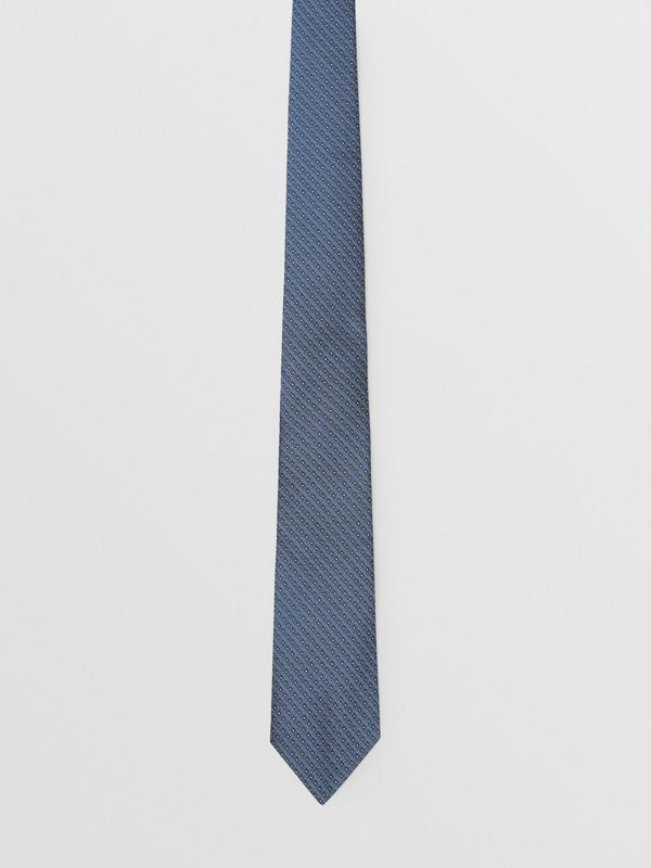 Classic Cut Micro Dot Silk Jacquard Tie in Porcelain Blue - Men | Burberry - cell image 3