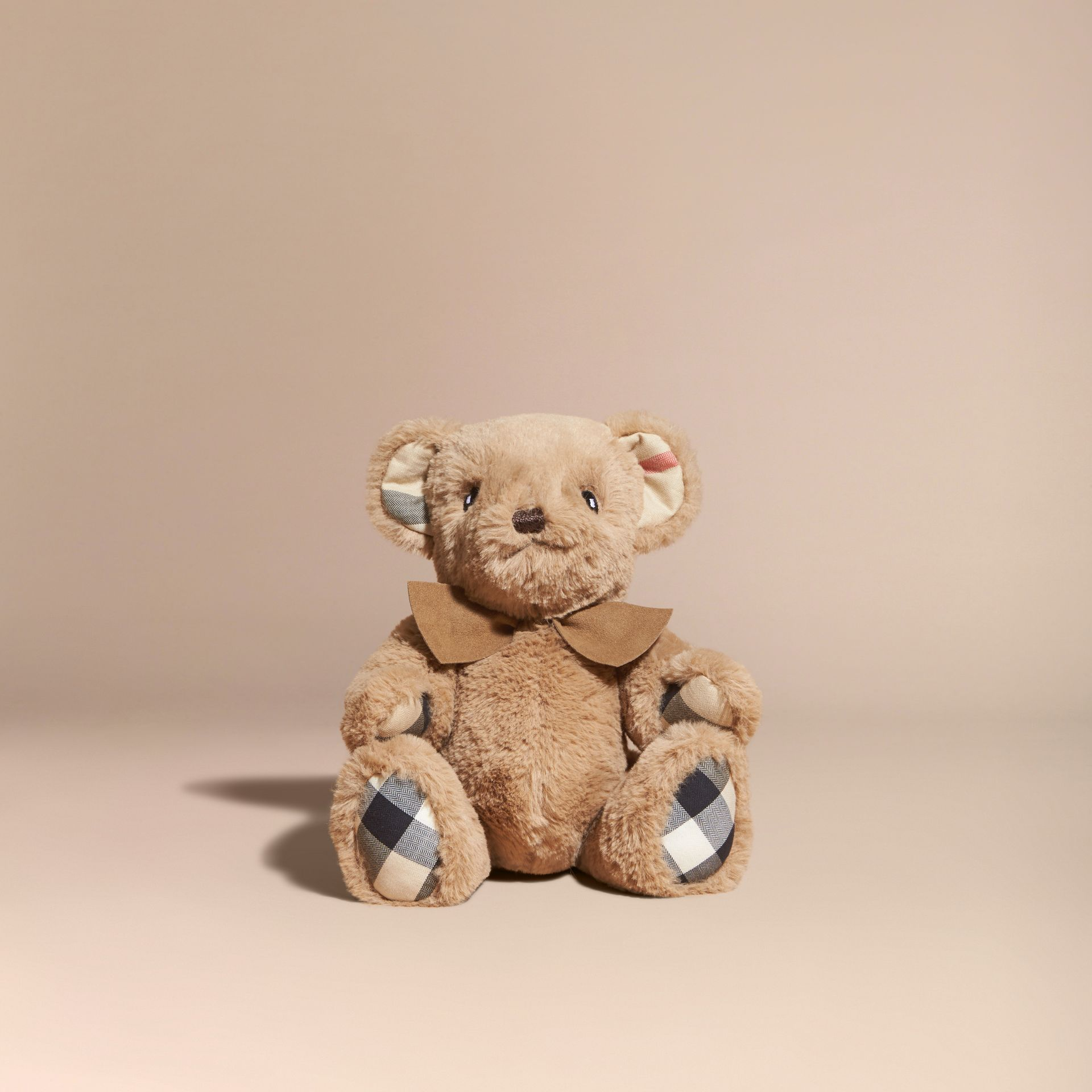 Thomas Baby Bear with Check Detail in Camel | Burberry - gallery image 4