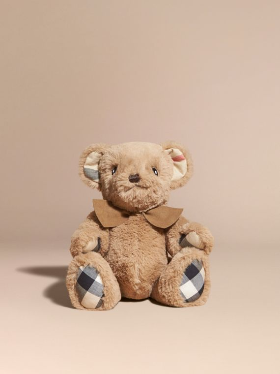 Thomas Baby Bear with Check Detail in Camel | Burberry - cell image 3