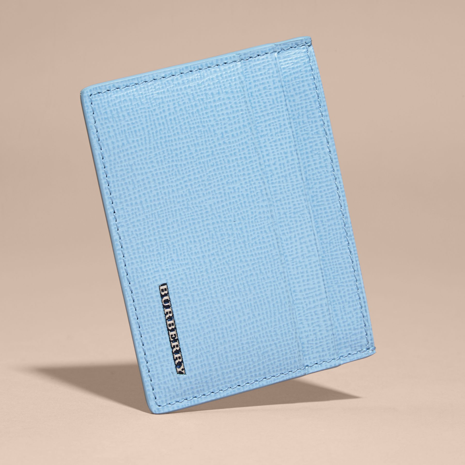London Leather Card Case in Powder Blue - gallery image 4