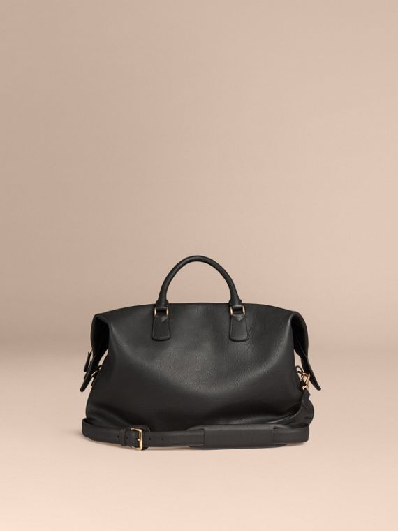 Black Grainy Leather Holdall Black - cell image 3