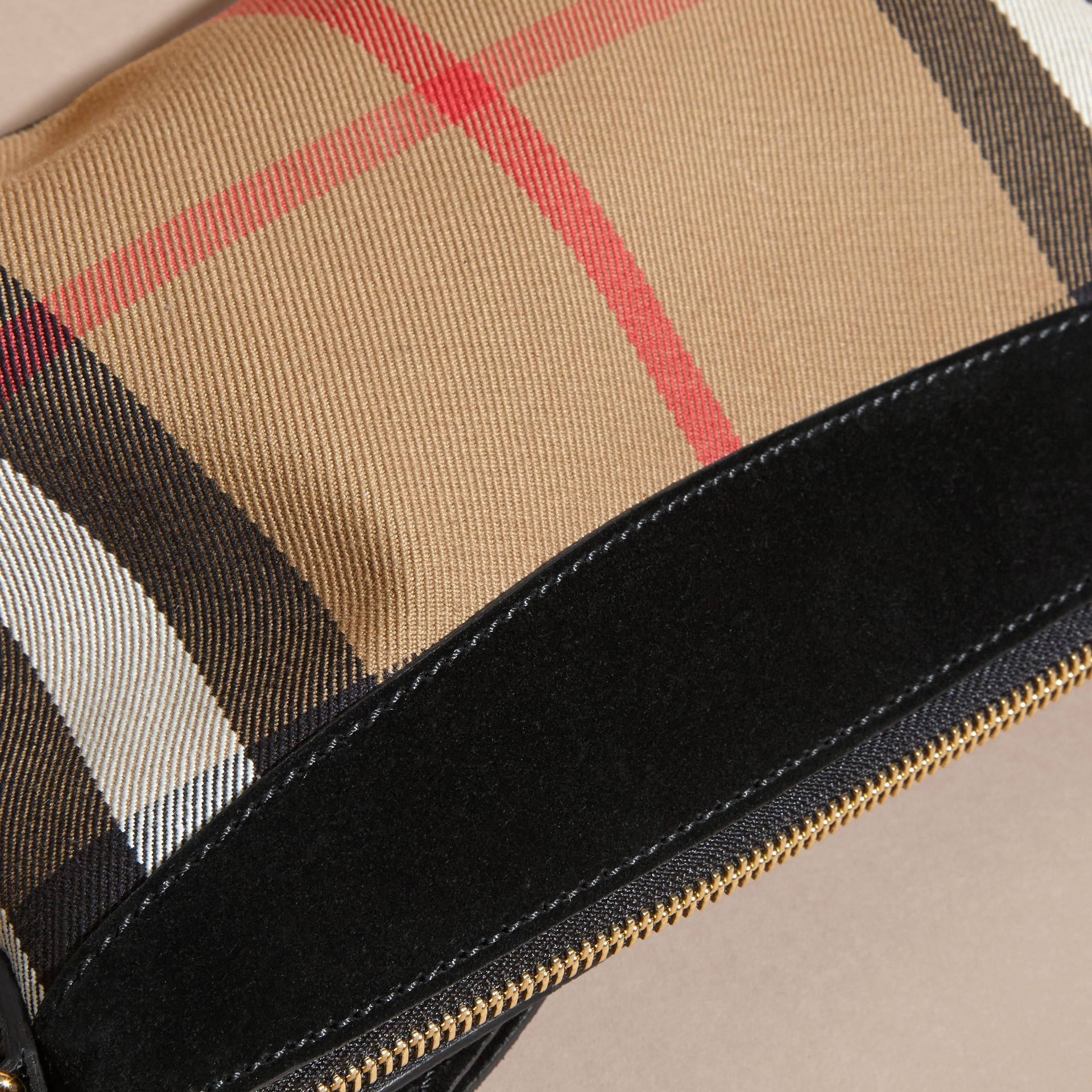 House Check Clutch Bag with Suede Buckled Bow - gallery image 7