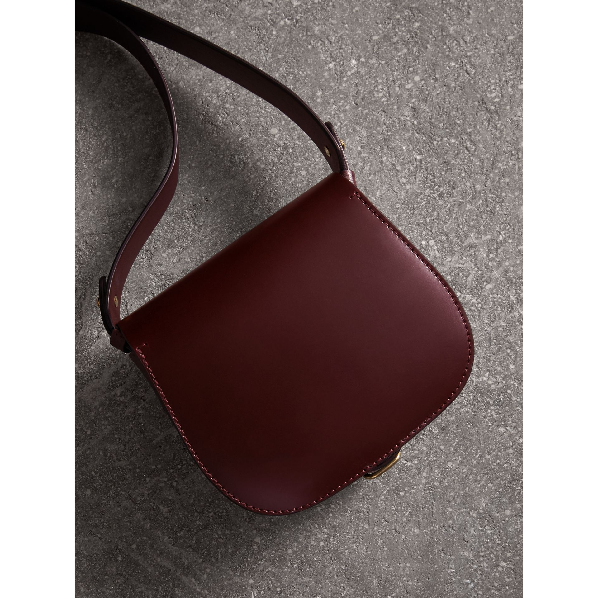 The Satchel in Bridle Leather in Deep Claret - Women | Burberry - gallery image 3