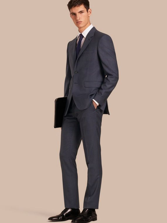 Modern Fit Wool Half-canvas Suit