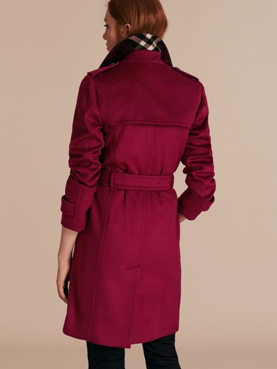 Cherry pink Cashmere Wrap Trench Coat Cherry Pink - cell image 2
