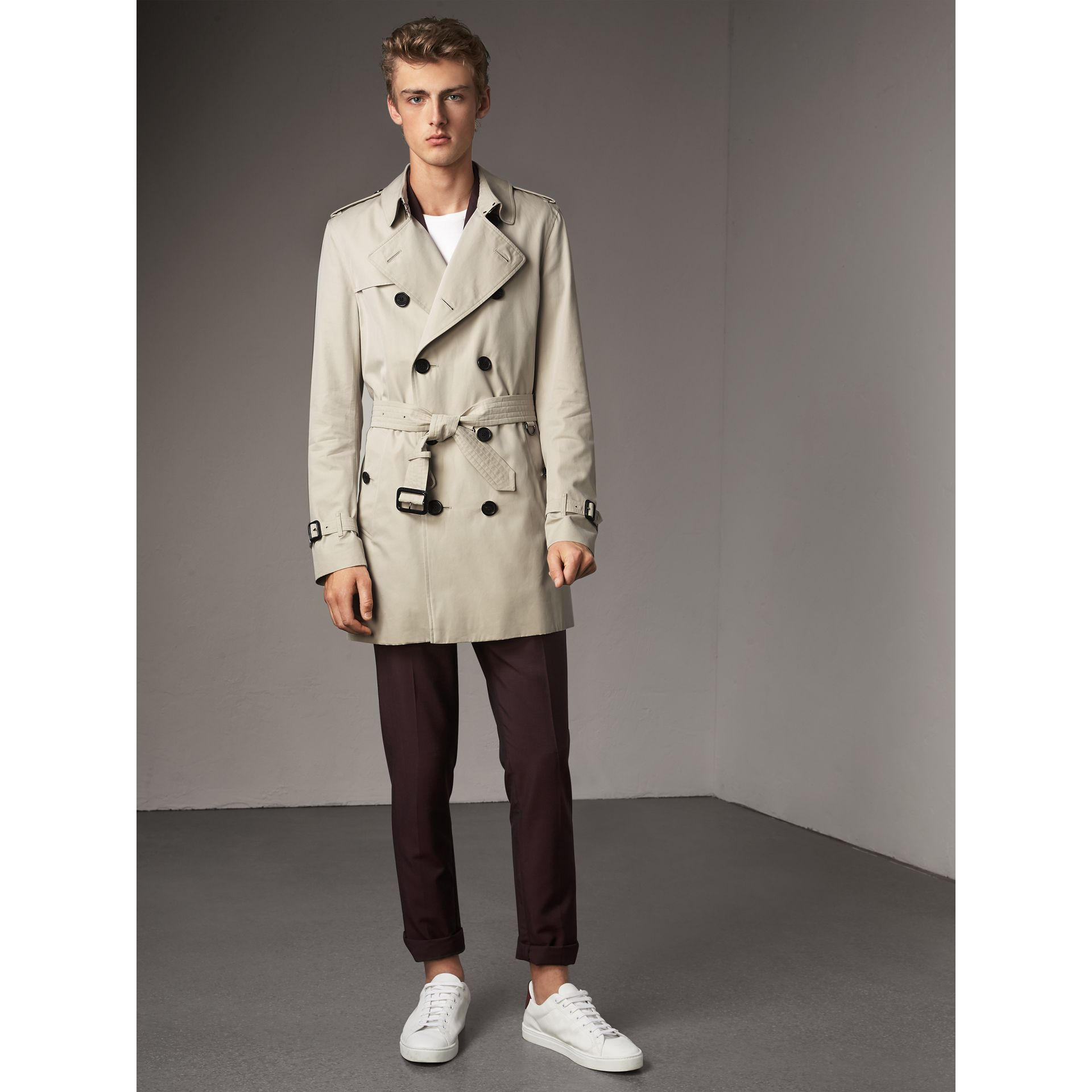 The Kensington – Mid-length Trench Coat in Stone - Men | Burberry Singapore - gallery image 6