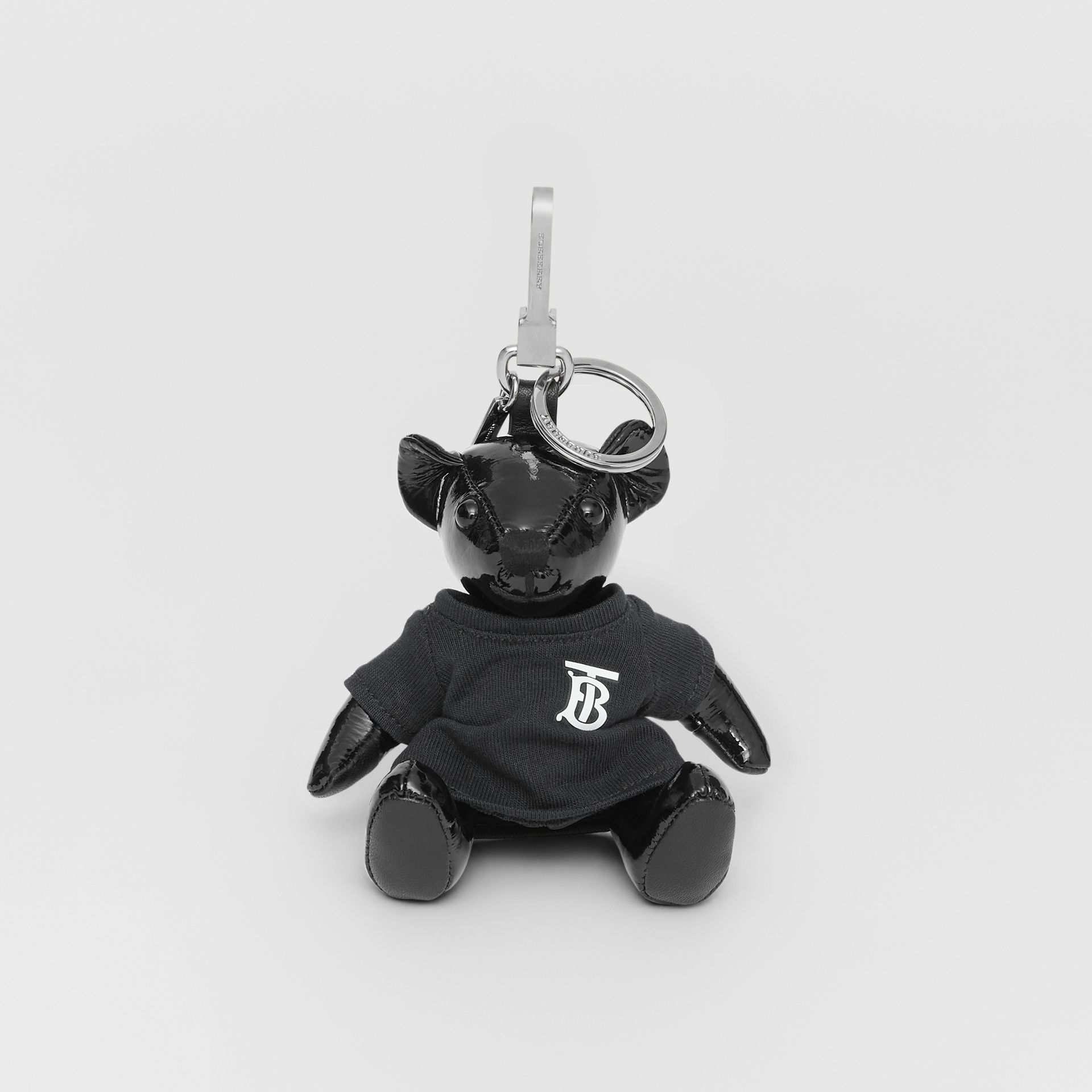 Thomas Bear Charm in Monogram Motif T-shirt in Black - Women | Burberry - gallery image 2
