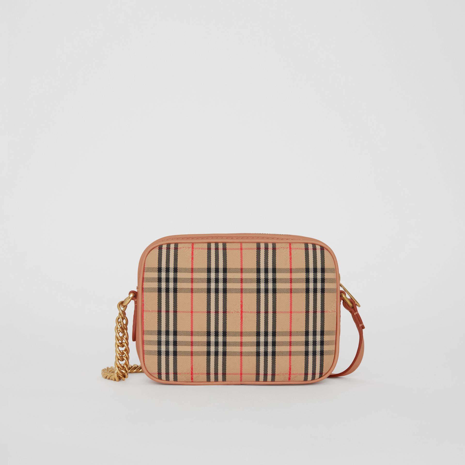 The 1983 Check Link Camera Bag in Peach - Women | Burberry - gallery image 7