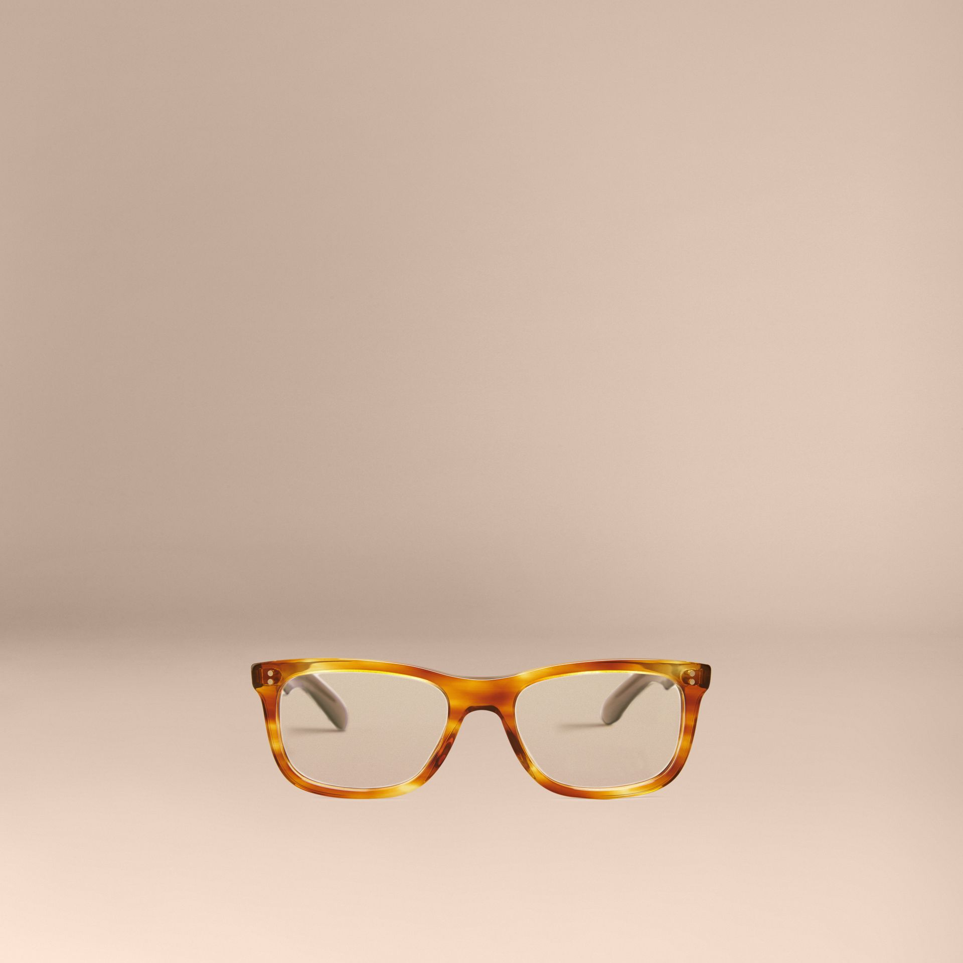 Square Optical Frames in Tortoise Amber - gallery image 3