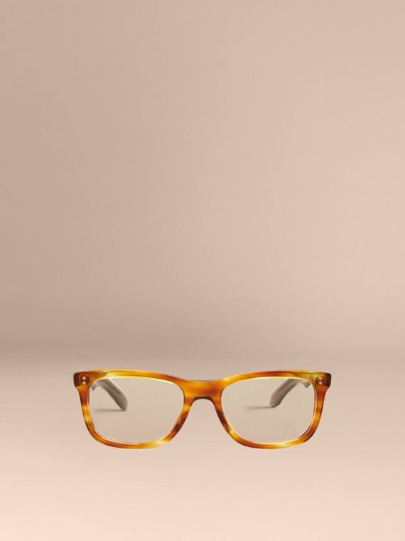 Square Optical Frames in Tortoise Amber - cell image 2
