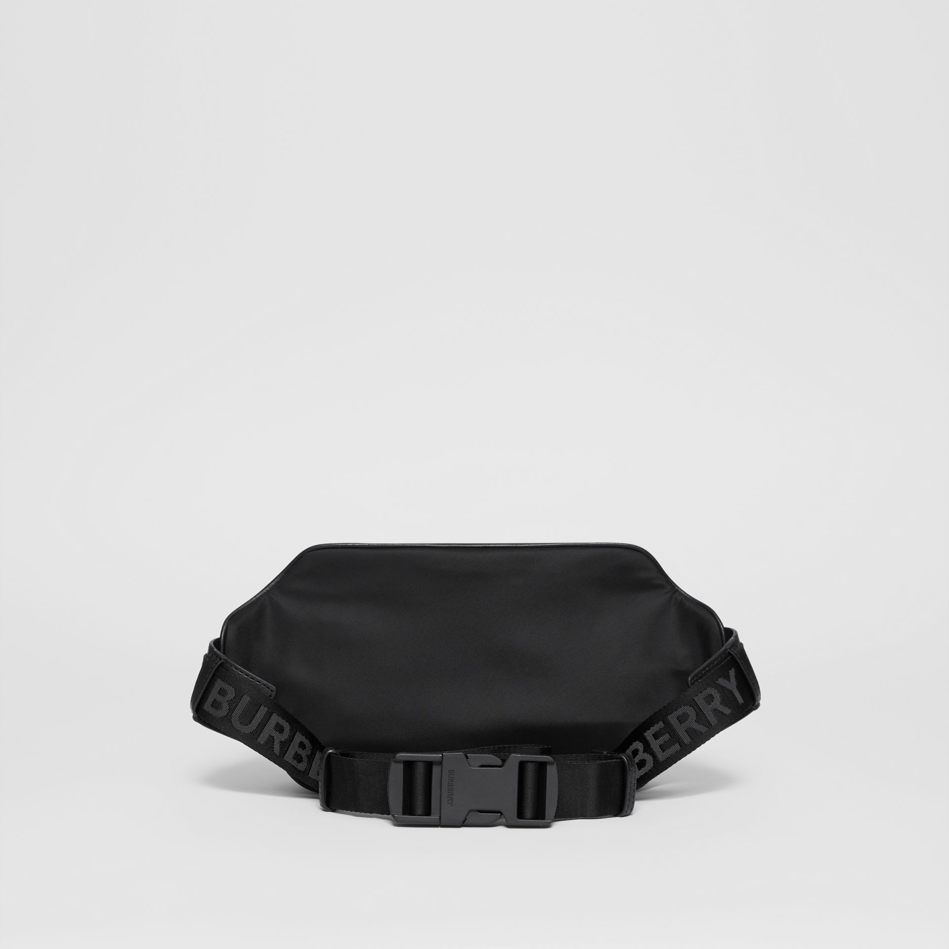 Logo Print Nylon Bum Bag in Black | Burberry - gallery image 7