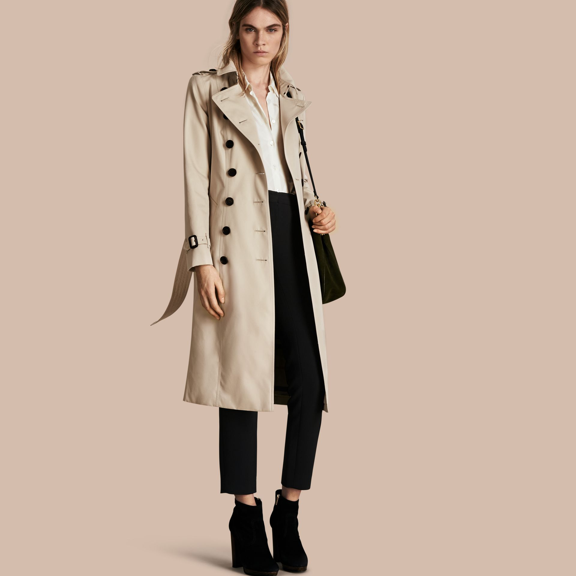 Stone The Chelsea – Extra-long Heritage Trench Coat Stone - gallery image 1