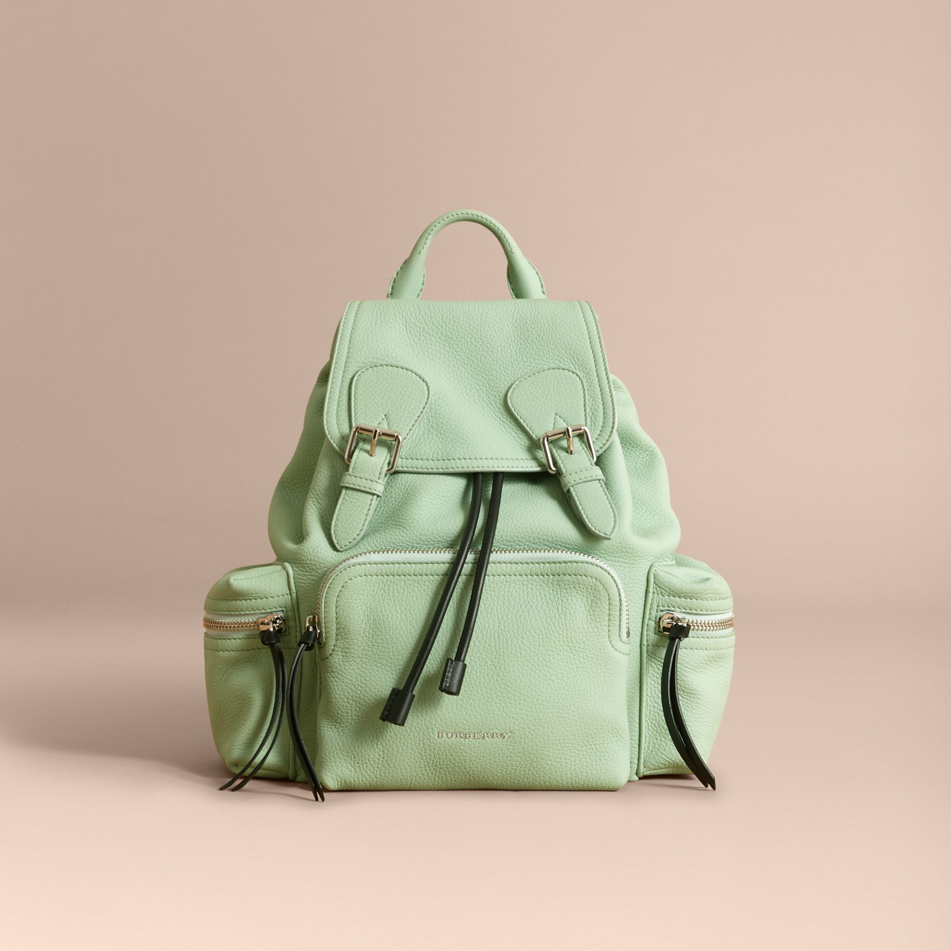 The Medium Rucksack in Deerskin with Resin Chain in Spearmint - Women | Burberry Hong Kong - gallery image 7