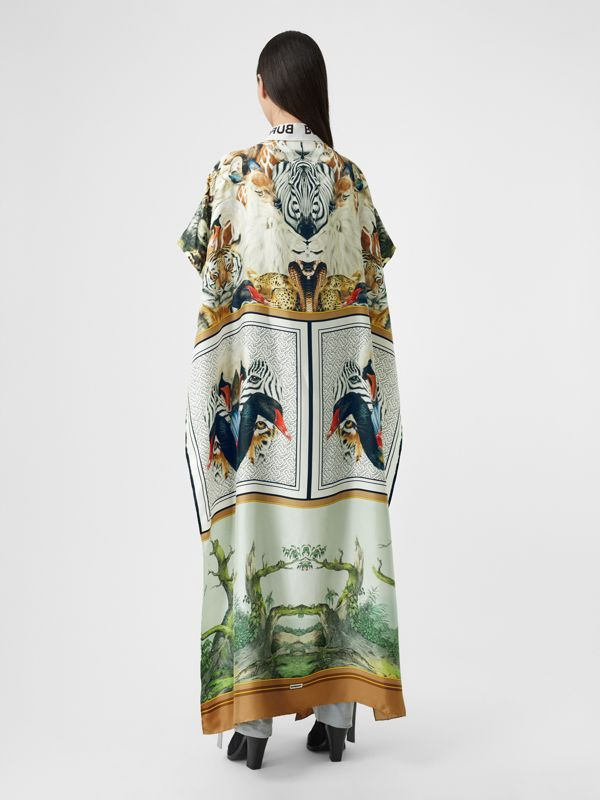 Montage Print Silk Twill Cape in Multicolour - Women | Burberry United Kingdom - cell image 2
