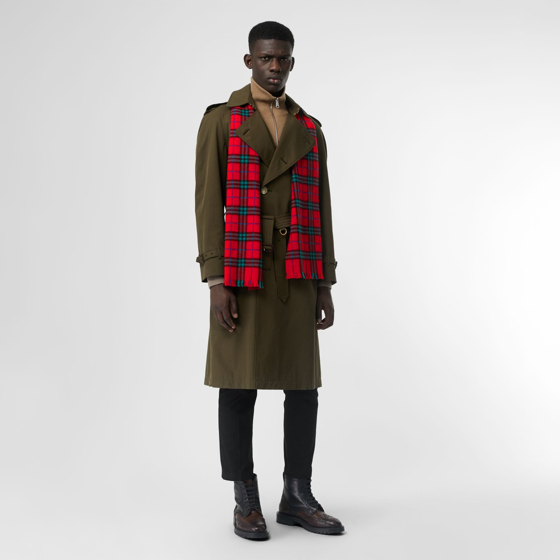 Check Cashmere Scarf | Burberry United Kingdom - gallery image 3