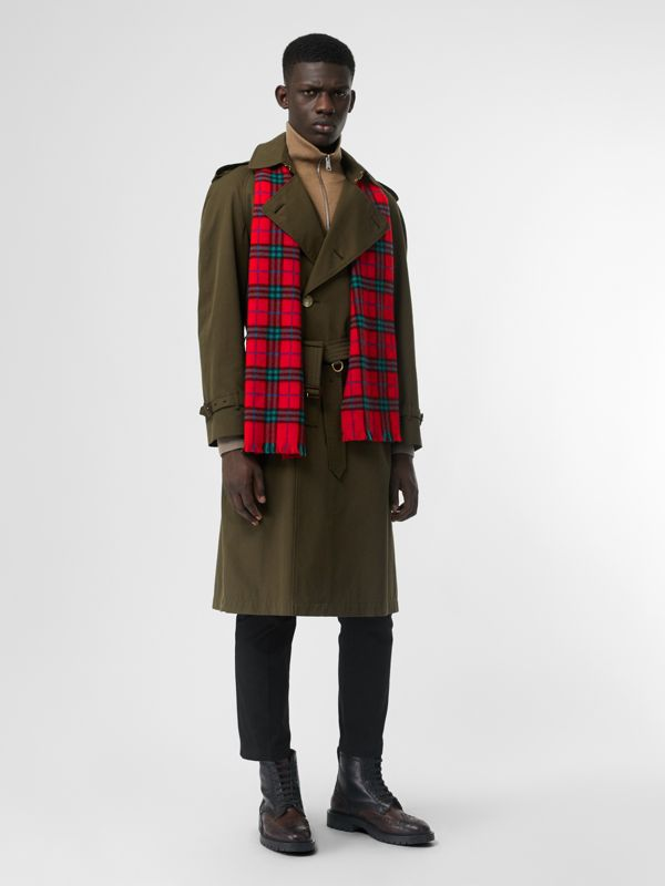 Check Cashmere Scarf | Burberry United Kingdom - cell image 3