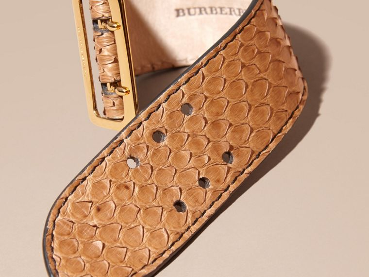 Python Cuff in Camel - Women | Burberry - cell image 2