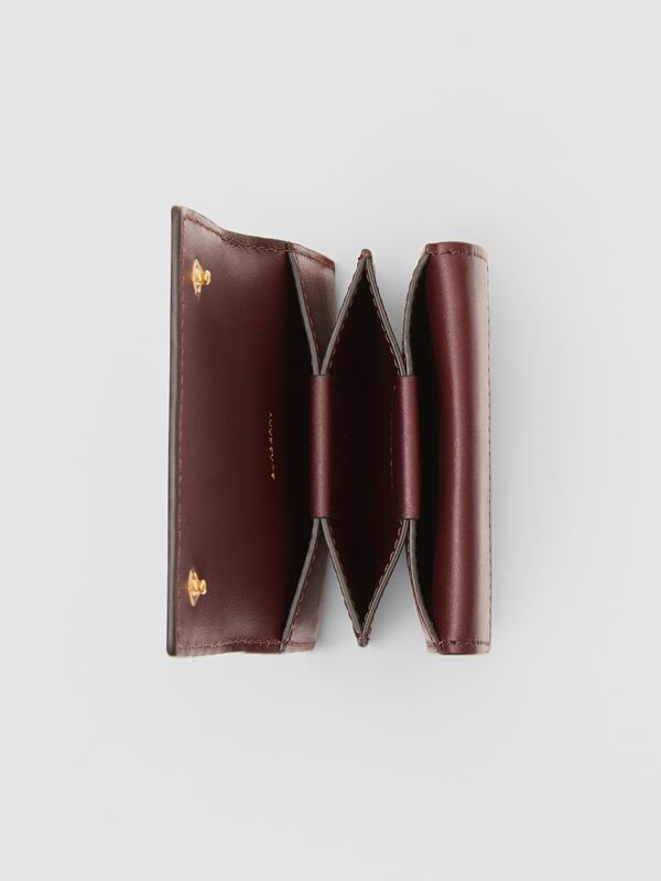 Porte-cartes en cuir Monogram (Oxblood) | Burberry - cell image 2