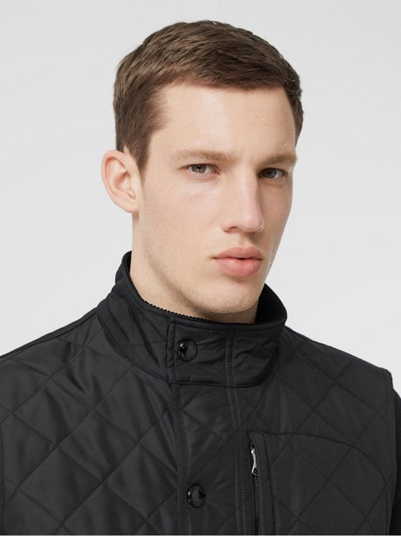 Diamond Quilted Thermoregulated Gilet in Black - Men | Burberry United States - cell image 1