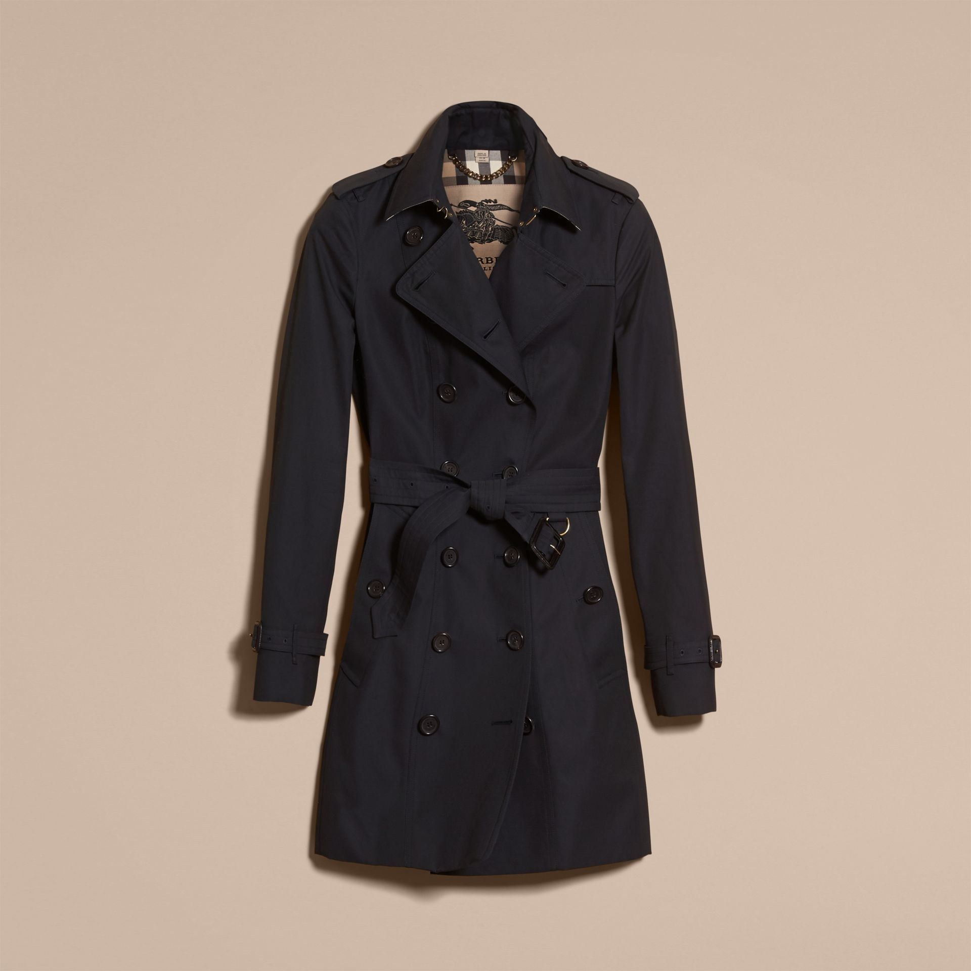 Navy The Sandringham – Mid-length Heritage Trench Coat Navy - gallery image 4