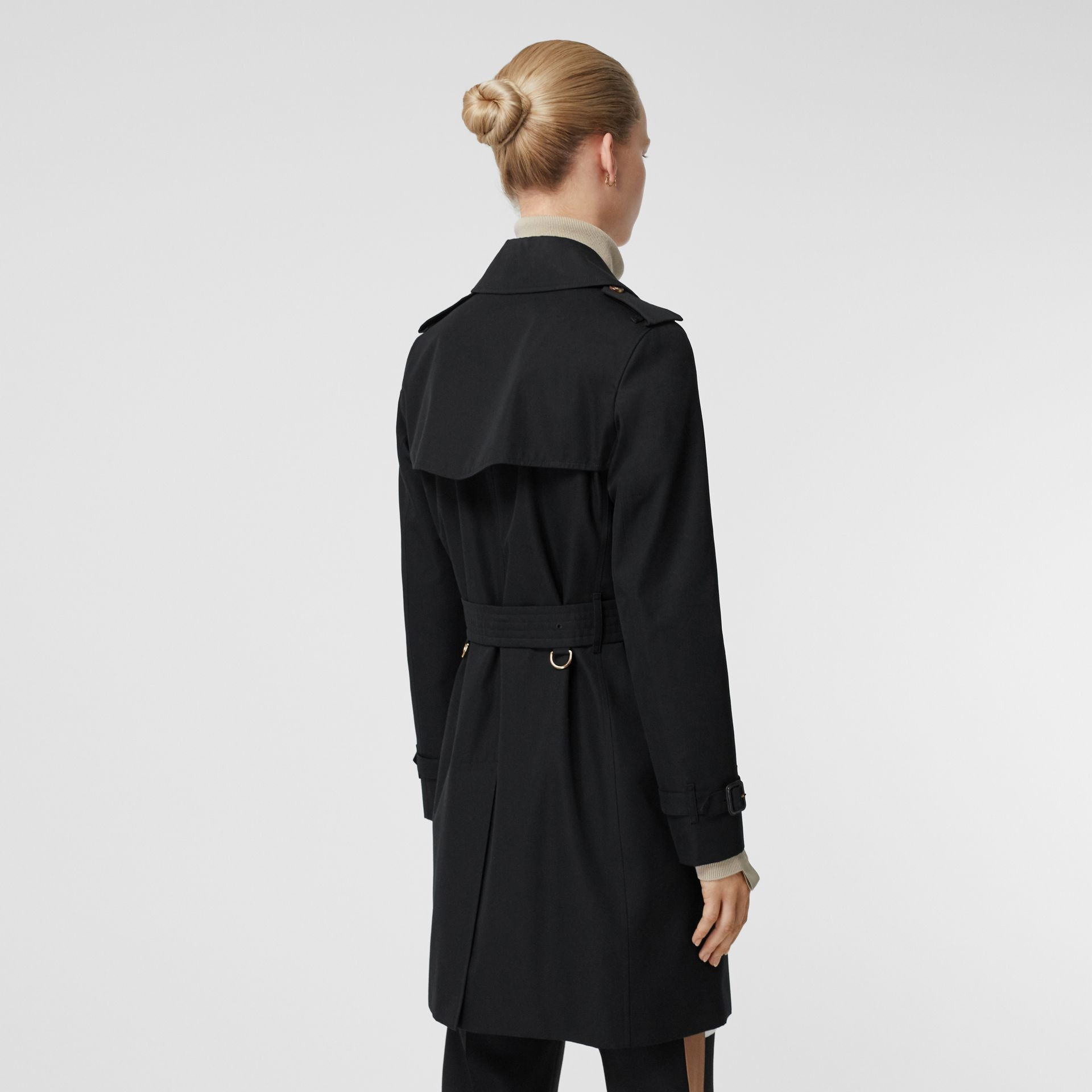 Cotton Gabardine Trench Coat in Black - Women | Burberry - gallery image 2