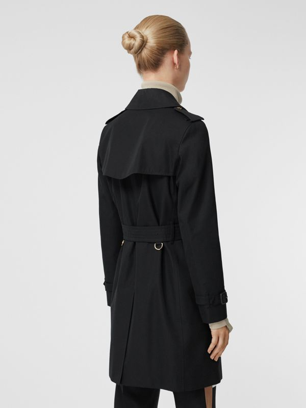 Cotton Gabardine Trench Coat in Black - Women | Burberry - cell image 2