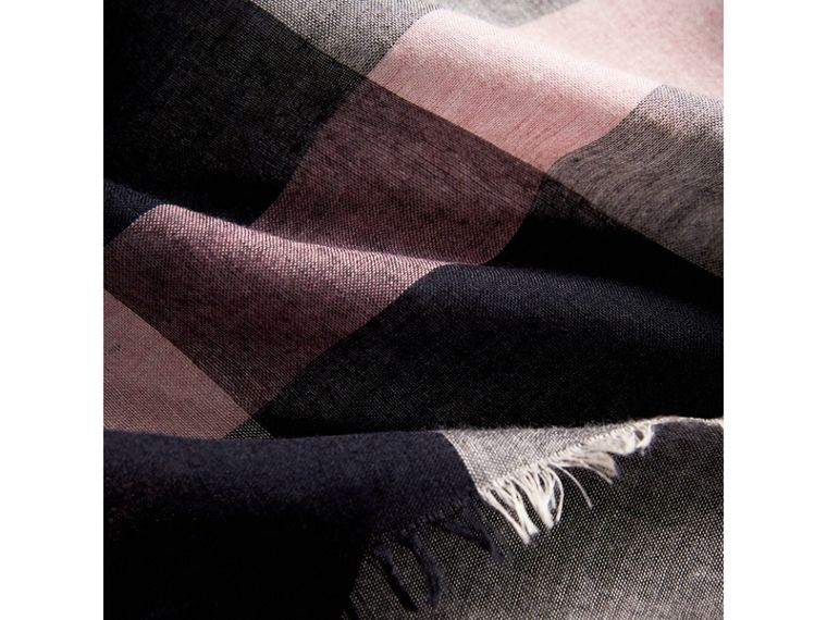 Check Modal and Wool Square Scarf in Antique Rose - Women | Burberry United Kingdom - cell image 1