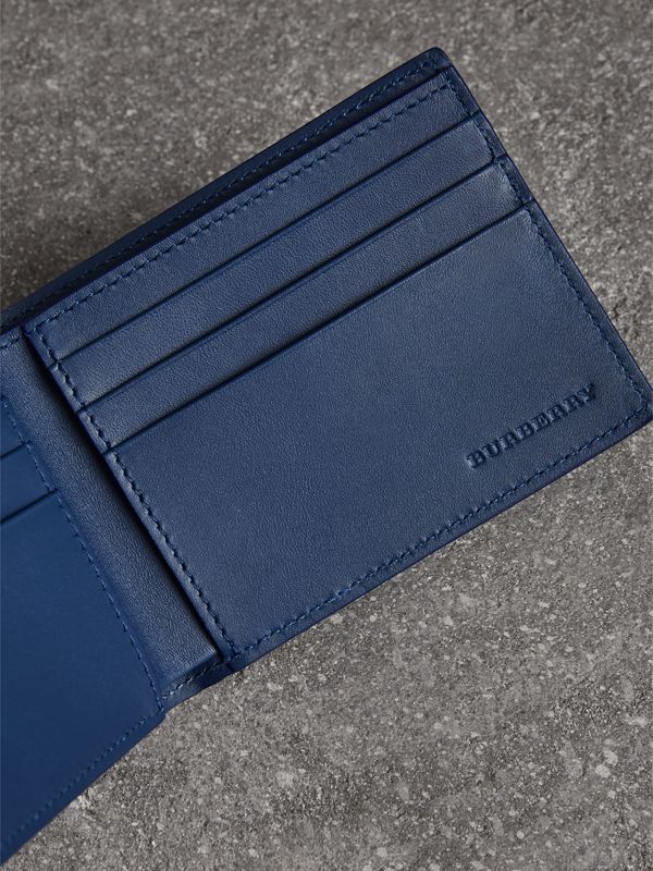 London Leather Bifold Wallet in Deep Blue - Men | Burberry - cell image 3