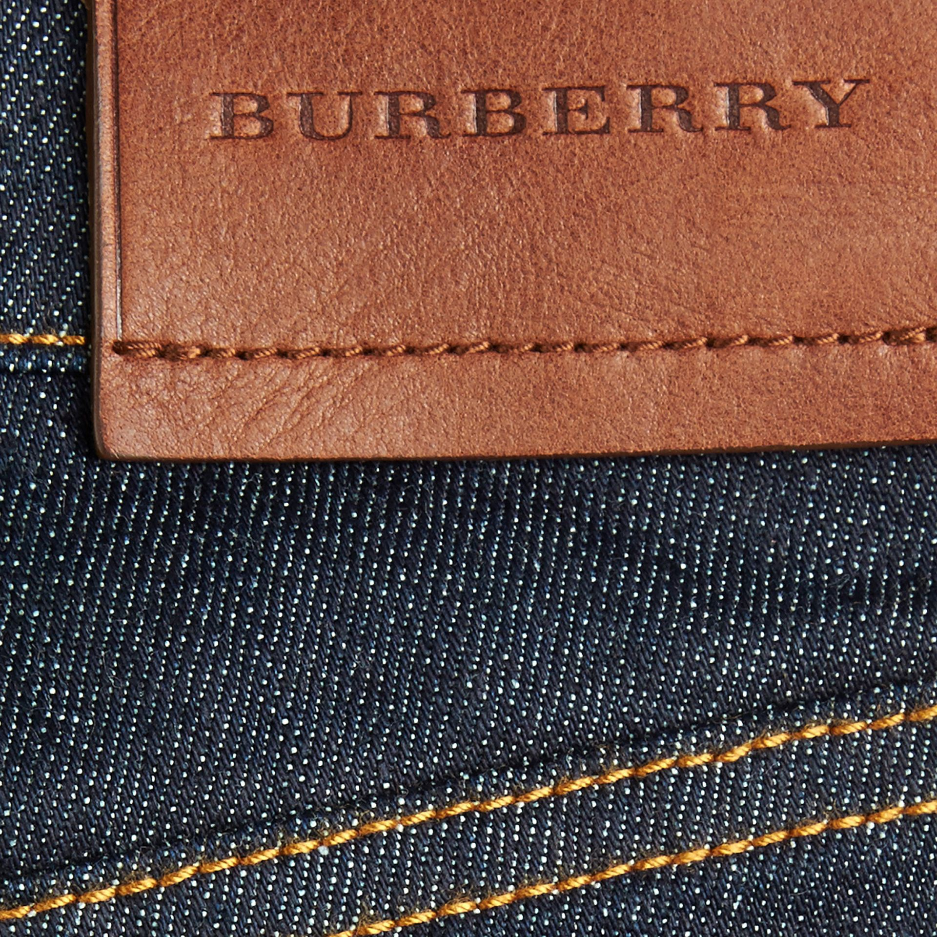 Relaxed Fit Indigo Jeans in Dark - Boy | Burberry - gallery image 2