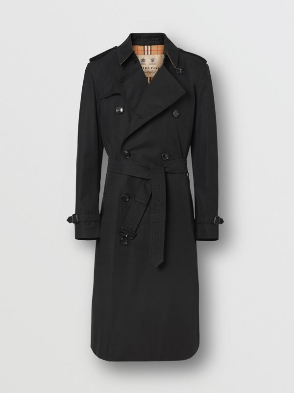 The Long Kensington Heritage Trench Coat in Black - Men | Burberry Australia - cell image 3
