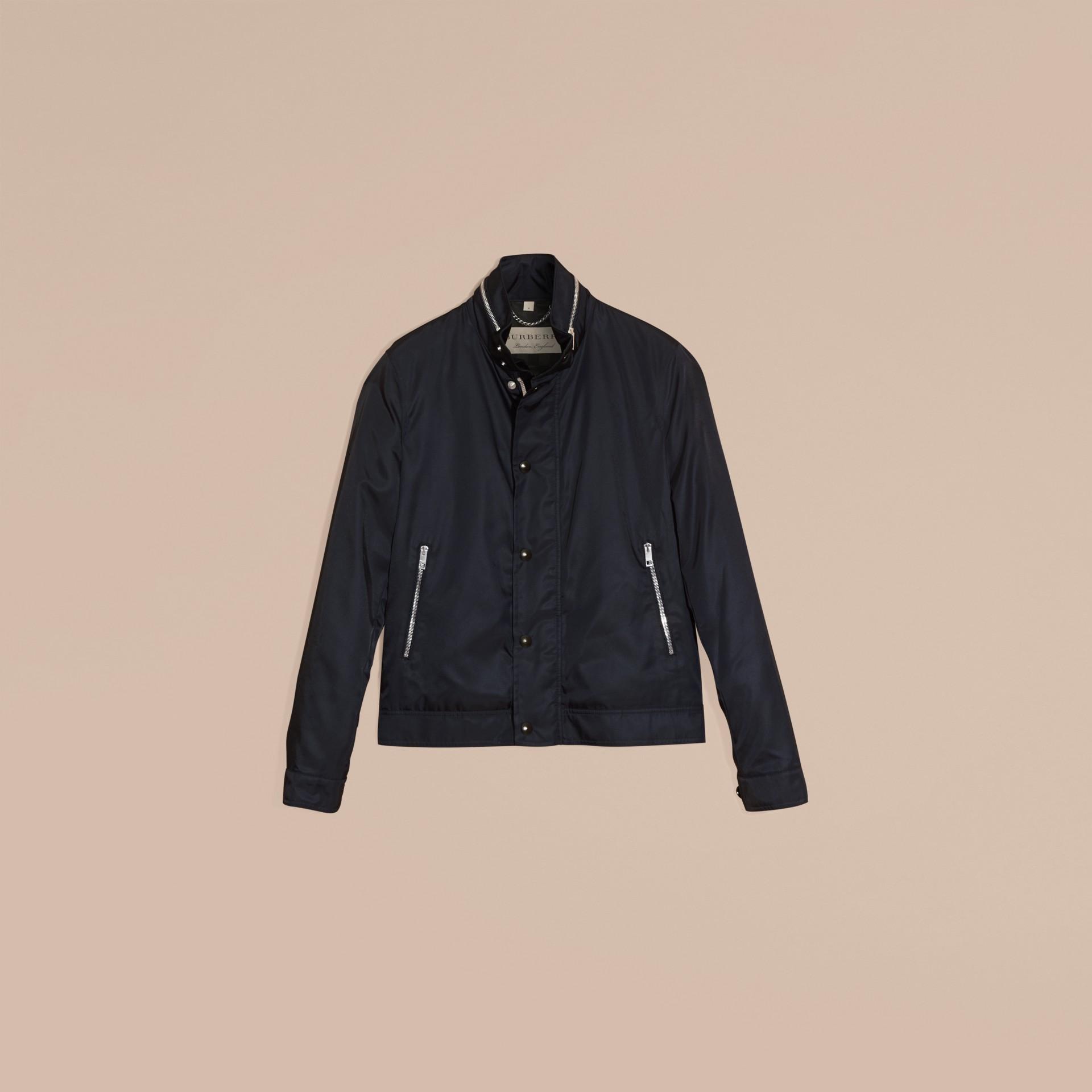 Темно-синий Куртка со складным капюшоном - изображение 4
