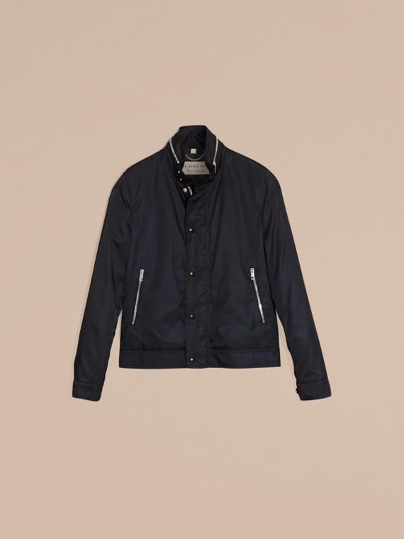 Темно-синий Куртка со складным капюшоном - cell image 3