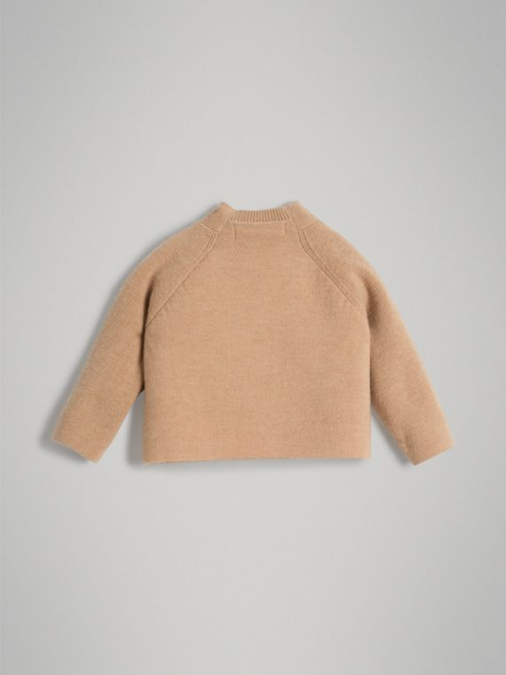Cashmere Cotton Knit Cardigan in Peach | Burberry - cell image 3