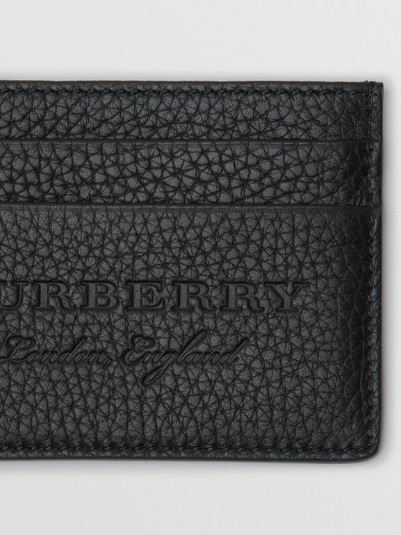 Textured Leather Card Case in Black | Burberry Singapore - cell image 1