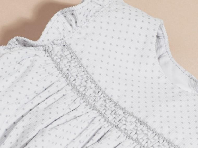 Gris pâle Combinaison en velours côtelé à smocks et imprimé à pois - cell image 1