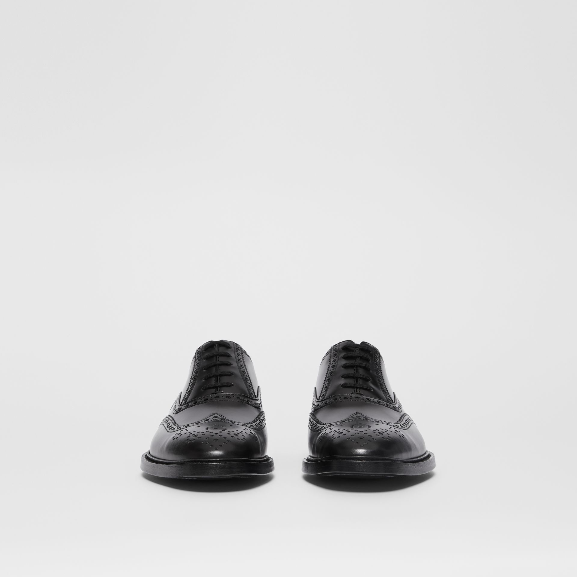 D-ring Detail Patent Leather Oxford Brogues in Black - Men | Burberry - gallery image 2