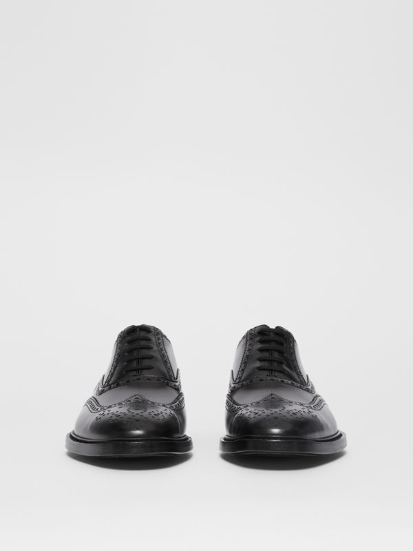 D-ring Detail Patent Leather Oxford Brogues in Black - Men | Burberry - cell image 2