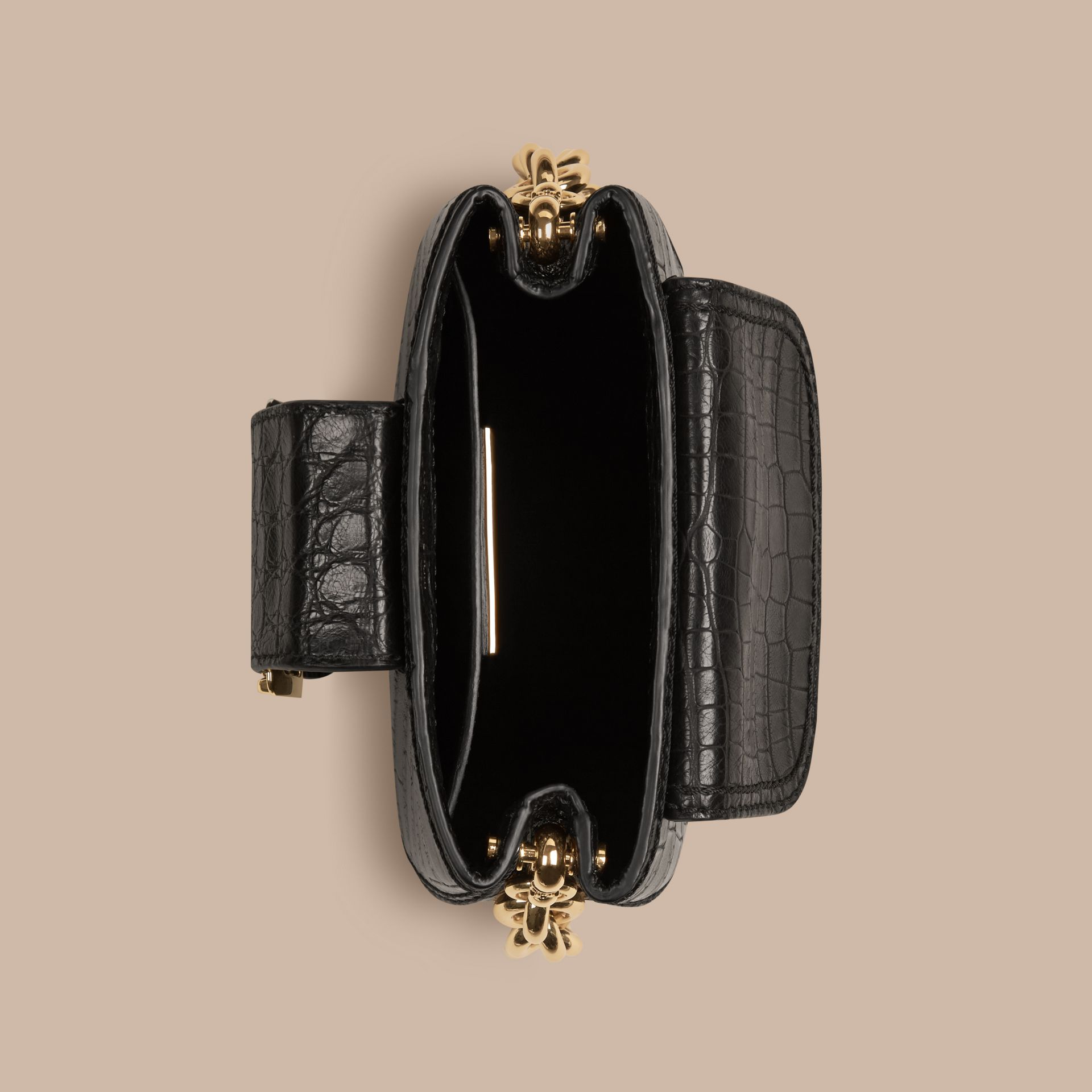 The Small Square Buckle Bag in Alligator Limited Edition - gallery image 6