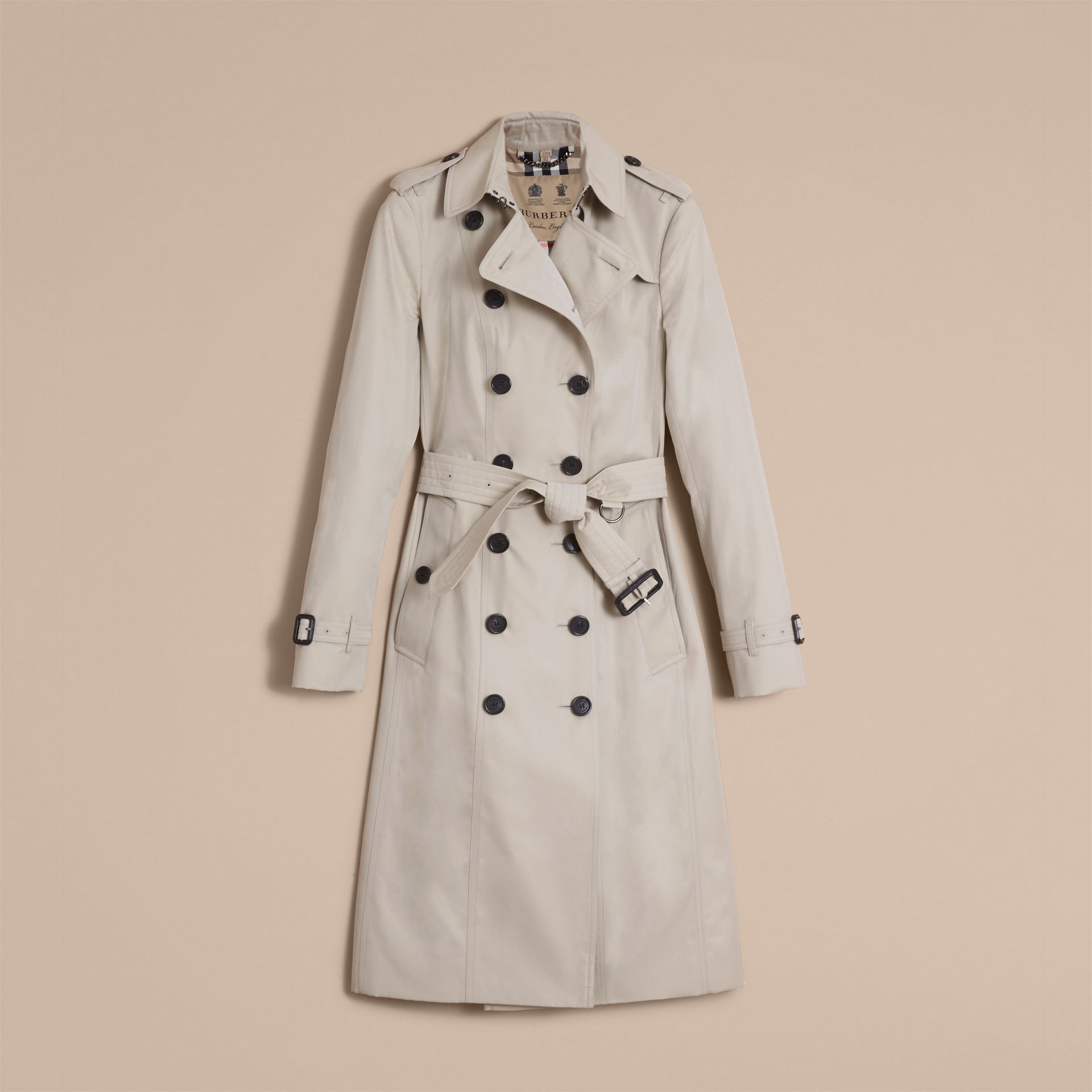 The Sandringham – Extra-long Heritage Trench Coat in Stone - gallery image 4