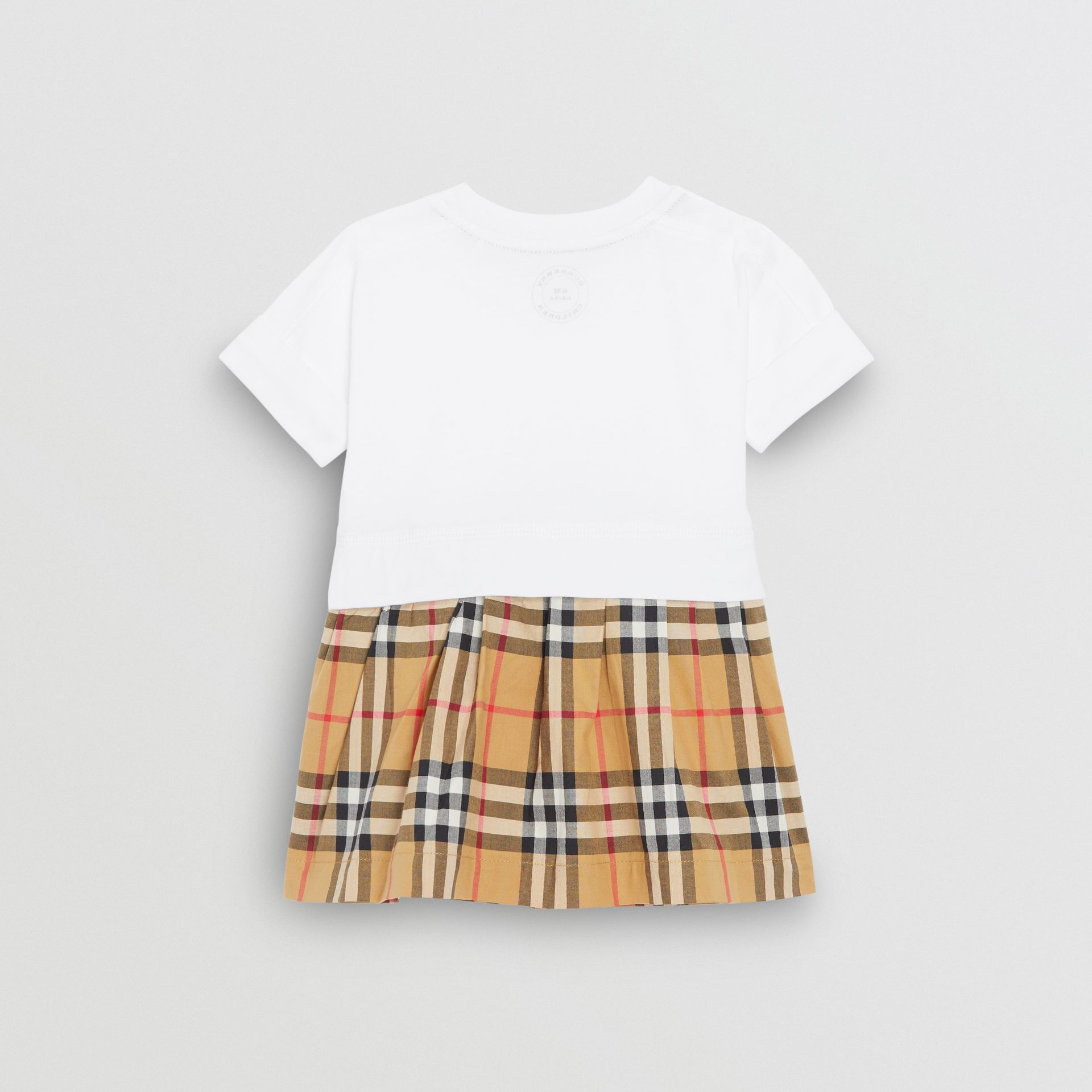 Vintage Check Cotton Dress with Bloomers in White - Children | Burberry Hong Kong - gallery image 3