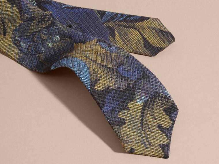Deep indigo Modern Cut Tapestry Print Tie Deep Indigo - cell image 1