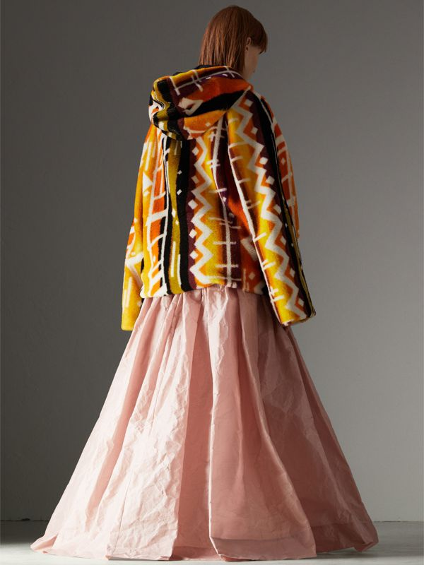 Coated Cotton Blend Maxi Skirt in Pale Rose - Women | Burberry - cell image 2